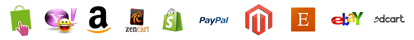 Shopping Integrations including Presta Cart, Yahoo Messenger, Amazon, Zen Cart, Shopify, PayPal, Magento, Etsy, eBay, 3d Cart and more!